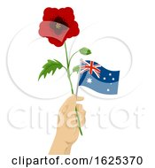 Hand Hold Poppy Flower Illustration