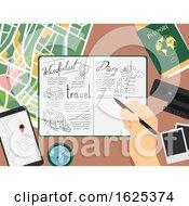 Hand Travel Doodle Book Illustration