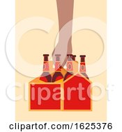 Hand Carrier Box Beer Illustration