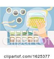Hand Drawer Container Label Maker Illustration by BNP Design Studio