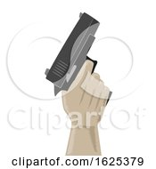 Hand Hold Gun Illustration