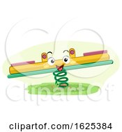 Mascot Seesaw Playground Illustration