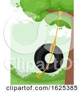 Poster, Art Print Of Tire Swing Garden Illustration