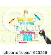 Hand School Drawing Illustration