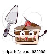 Mascot Cake Cutlery Knife Illustration