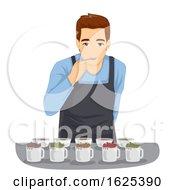 Poster, Art Print Of Tea Tasting Man Illustration