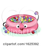 Mascot Ball Pit Indoor Playground Illustration