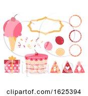 Ice Cream Birthday Elements Illustration
