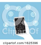 Hand Smart House Device Illustration