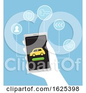 Hand Car Rental Illustration