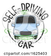 Self Driving Car Icon Illustration