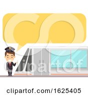 Train Driver Speech Bubble Illustration