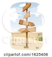 Desert Adventure Sign Illustration