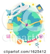 Airplane Flight Time Illustration
