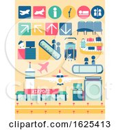 Airport Facilities Elements Illustration
