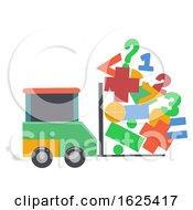 Car Math Symbol Lift Illustration