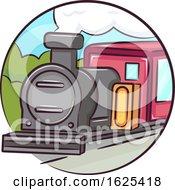 Icon Old Train Illustration