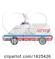News Van Vehicle Illustration