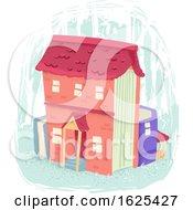 Books House Illustration