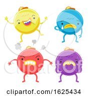 Cute Monster Emotion Colors Illustration