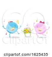 Cute Monsters Dancing Illustration