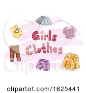 Girls Clothes Illustration