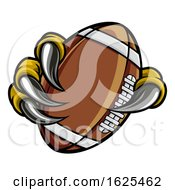 Poster, Art Print Of Eagle Bird Monster Claw Holding Football Ball