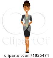 Full Length Black Business Woman