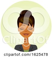 Black Business Woman With Her Eyes Closed
