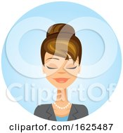 White Business Woman With Her Eyes Closed