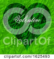 Poster, Art Print Of Green Grass Valentine Heart And Decorative Text