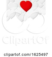Poster, Art Print Of Valentine White Sheet Copy Space With Hearts