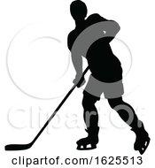 Hockey Sports Player Silhouettes by AtStockIllustration