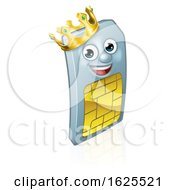 Sim Card King Mobile Phone Cartoon Mascot