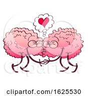 Poster, Art Print Of Two Brains Kissing Under A Heart