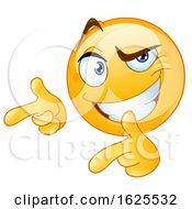 Poster, Art Print Of Yellow Emoji Pointing Fingers Like Guns