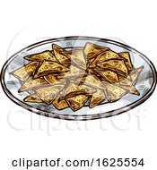 Plate Of Tortilla Chips by Vector Tradition SM