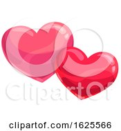 Poster, Art Print Of Two Valentine Hearts