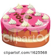 Poster, Art Print Of Valentine Cake With I Love You Icing