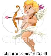 Flying Cupid Aiming An Arrow
