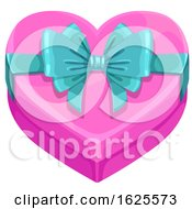 Poster, Art Print Of Valentines Day Heart Shaped Gift Box