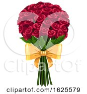 Poster, Art Print Of Valentine Or Anniversary Rose Boquet