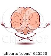Cartoon Brain Meditating by Zooco
