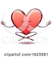 Poster, Art Print Of Cartoon Love Heart Meditating