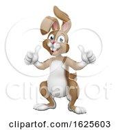 Poster, Art Print Of Easter Bunny Rabbit Cartoon Giving Thumbs Up