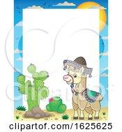 Border Of A Llama By Cactus