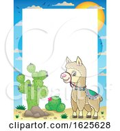 Border Of A Llama By Cactus by visekart