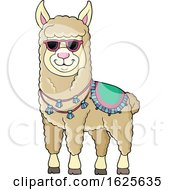 January 20th, 2019: Llama Wearing Sunglasses by visekart