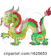 Green And Red Chinese Dragon by visekart