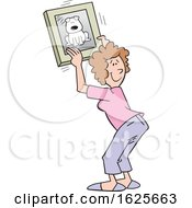 Cartoon White Woman Hanging A Dog Picture